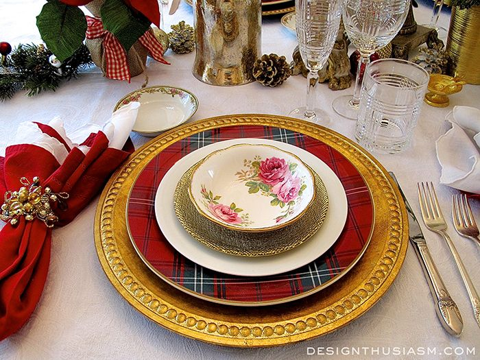Tartan and Roses Christmas Dinner