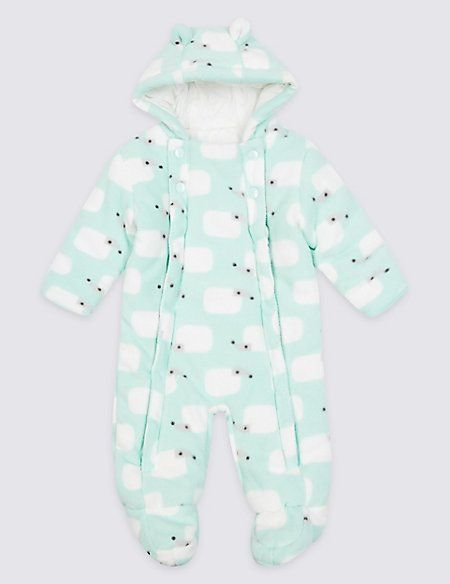 d880aadd5 All Over Hedgehog Print Pramsuit
