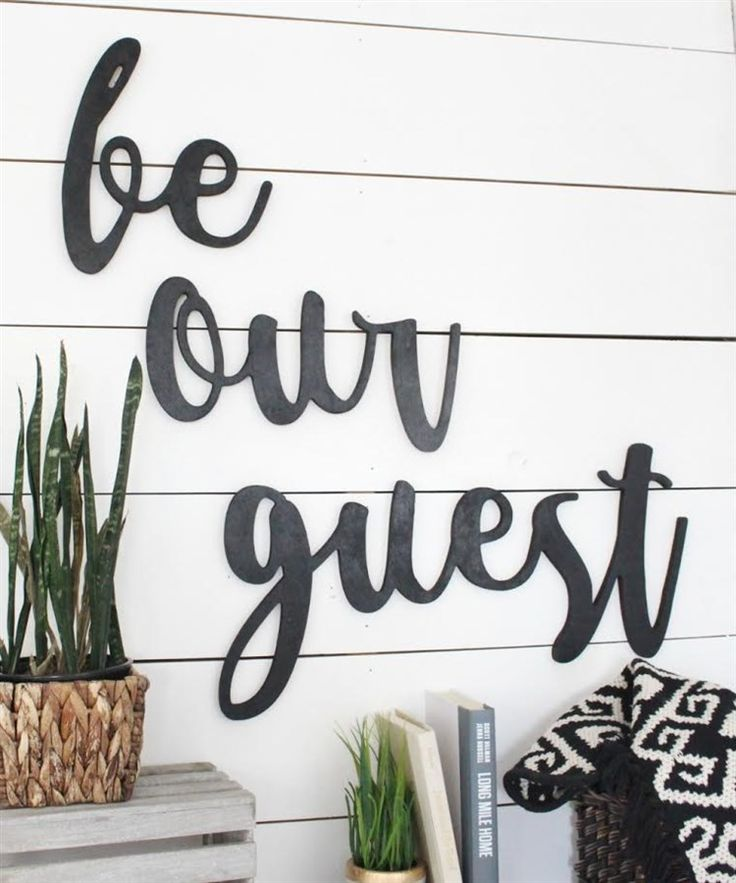 Oversized Be Our Guest Wood Cutout