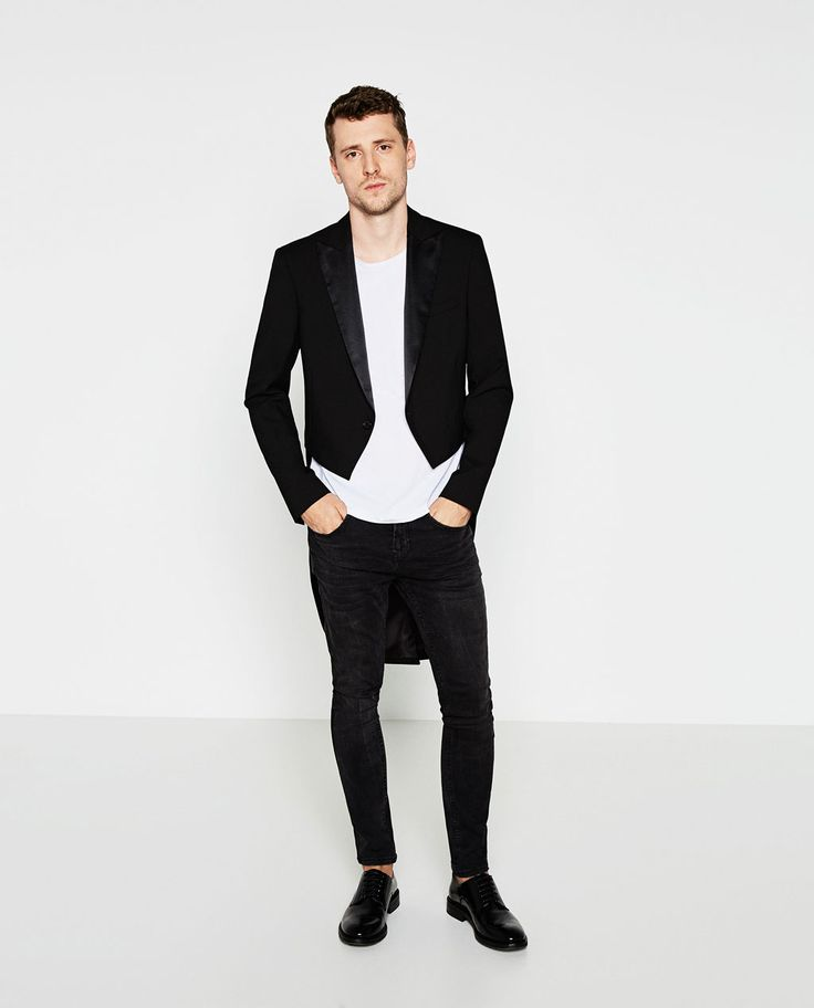 Image 1 of TAILCOAT JACKET WITH SATEEN LAPEL from Zara