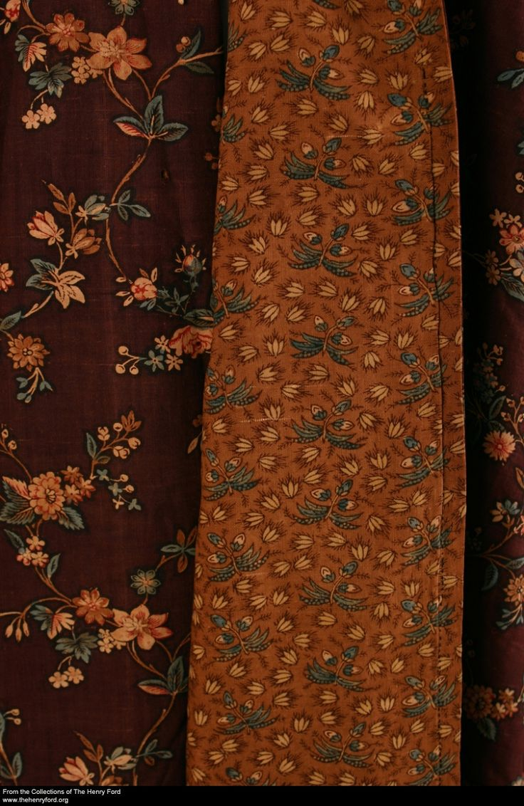 Morning Dress, 1780-1795 from the collection of the Henry Ford Museum