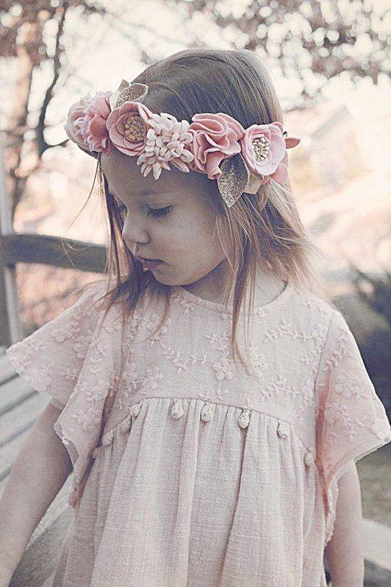 pretty in pink // felt flower crown // fancy by fancyfreefinery