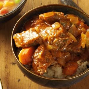 Sweet-and-Sour Beef Stew Recipe from Taste of Home -- shared by Frances Conklin of Grangeville, Idaho