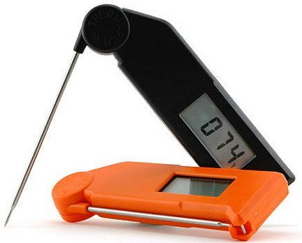 The Thermapen. The best instant read thermometer I have ever owned. I use it when I'm grilling or smoking and also to check the temp of the beer in the Kegerator. A GREAT investment.