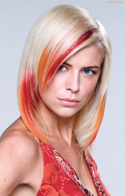 streaks in hair styles 1000 ideas about orange highlights on copper 4144