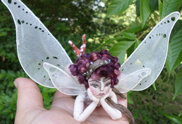 OOAK Fairy Doll - Esmerelda Romy Ivywood - Flower Fairy Cloth Art Doll - Paula McGee Paula's Doll House by paulasdollhouse on Etsy