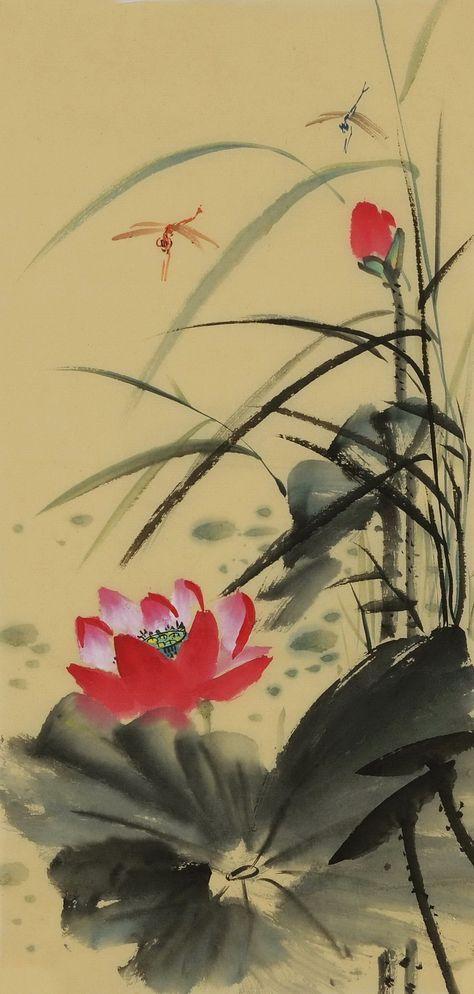 Lotus Cnag001002 In 2019 Chinese Brush Painting Chinese