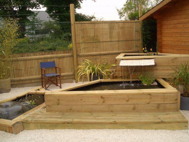 Bassin et fontaine int gr e jardin pinterest - Bassin moderne exterieur calais ...