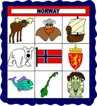educational craft idea about Norway