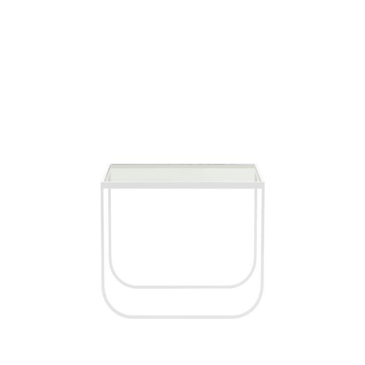 Tati Square soffbord - Tati Square soffbord - glas, white, 63x63 cm