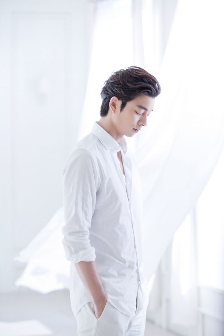 Gong Yoo ; he is so beautiful in white omg