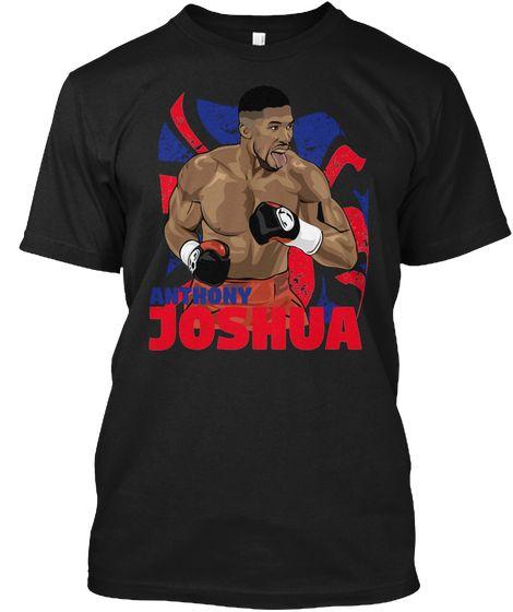 Anthony Joshua Black T-Shirt Front