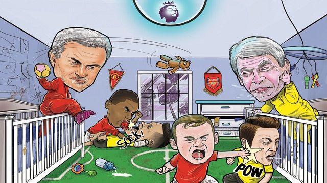 Manchester United Sindir Arsenal di Media Sosial Twitter