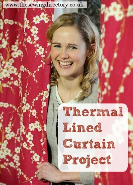 Make thermal lined curtains - ideal for the winter, help keep the warmth in