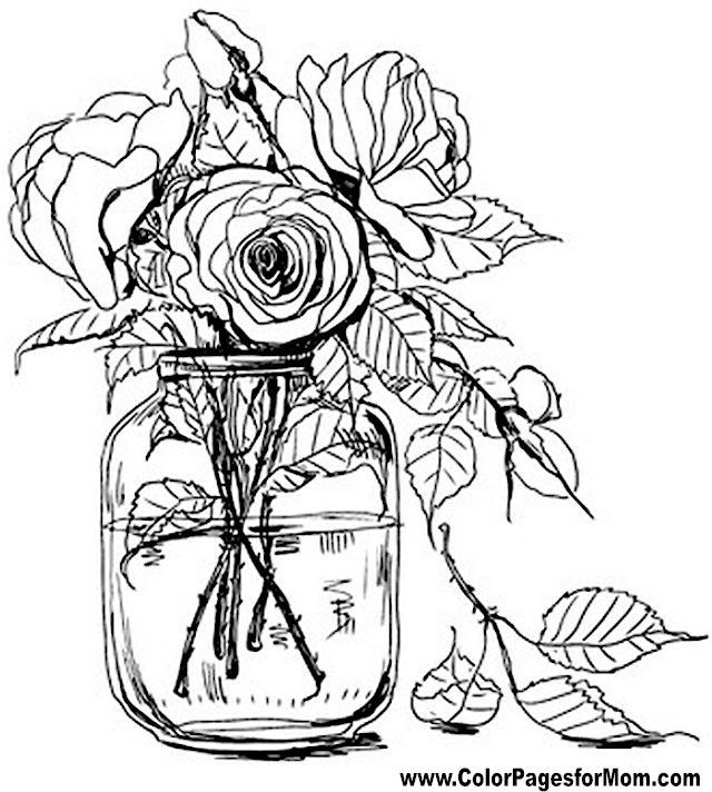 Flower Coloring Page 67 Flower Coloring Pages Adult Coloring