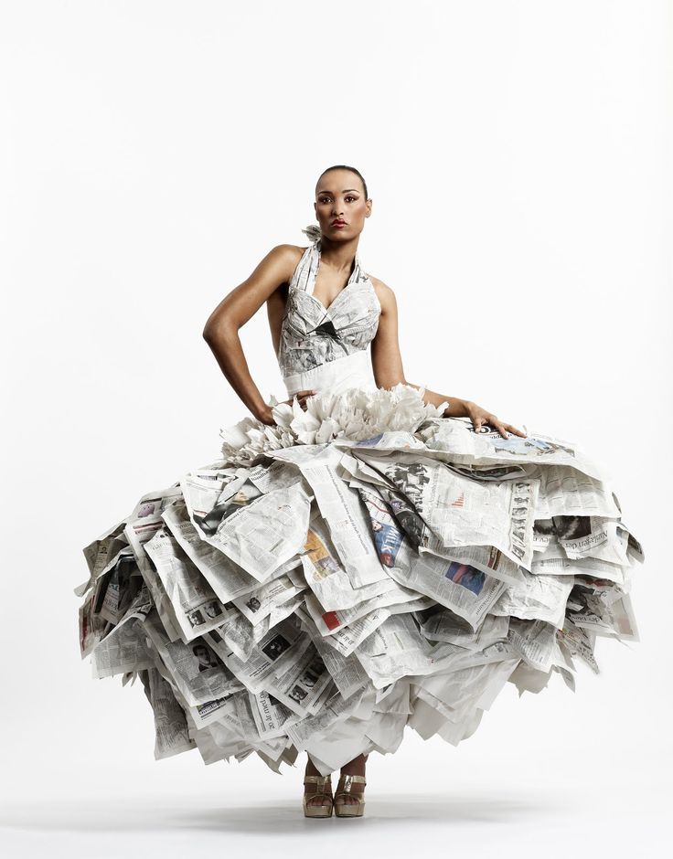 Gary Harvey-Newspaper wedding dress