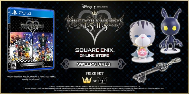 Pre-Order now and get entered into the Square Enix Online Store's KINGDOM HEARTS HD 1.5 + 2.5 ReMIX (Pre-Order) and KINGDOM HEARTS HD 2...