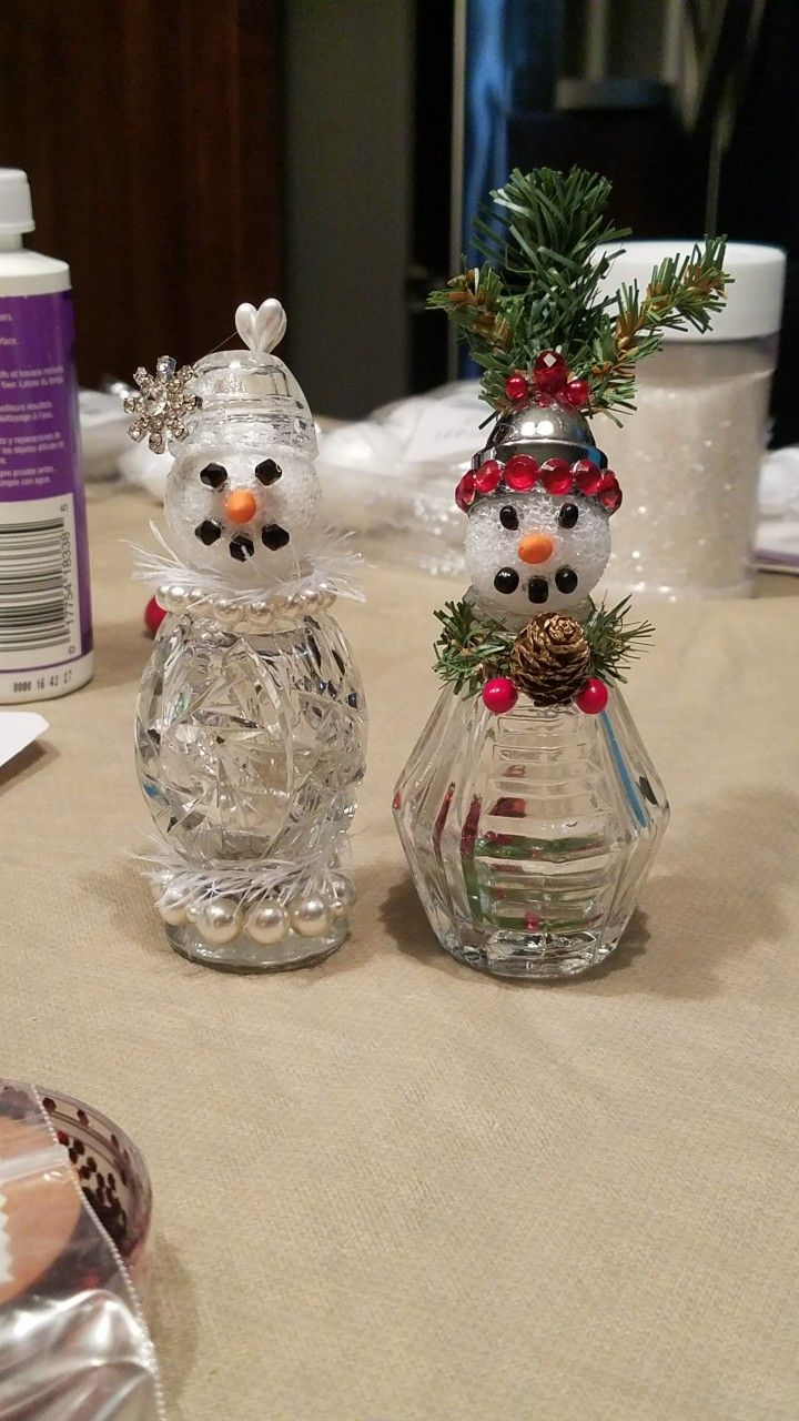 add a styrofoam ball to salt and pepper shakers snow people