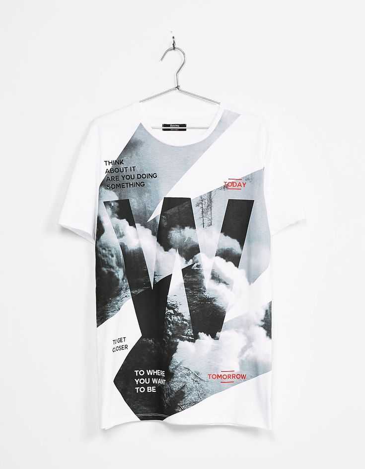 Text print T-shirt. Discover this and many more items in Bershka with new products every week