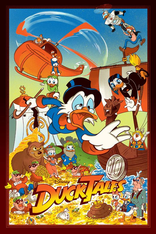 JJ Harrison DuckTales Mondo Movie Poster print art. To purchase this piece or any other limited edition art prints, visit us @ Printdrop.com