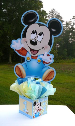 baby mickey first birthday party | -baby-mickey-mouse-decorations-ha ndmade-supplies-decor-first-boy-1st ...                                                                                                                                                                                 Más