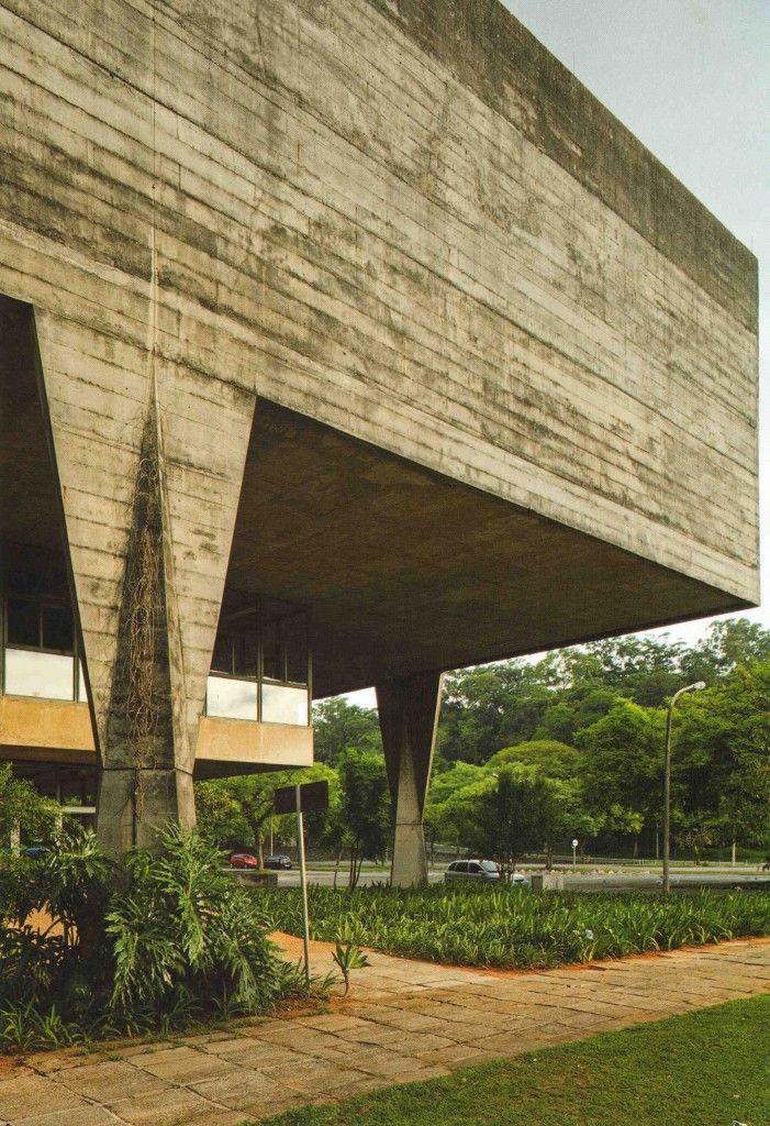BR, Sao Paulo, Faculty of Architecture and Urbanism. João Vilanova Artigas and Carlos Cascaldi, 1969.