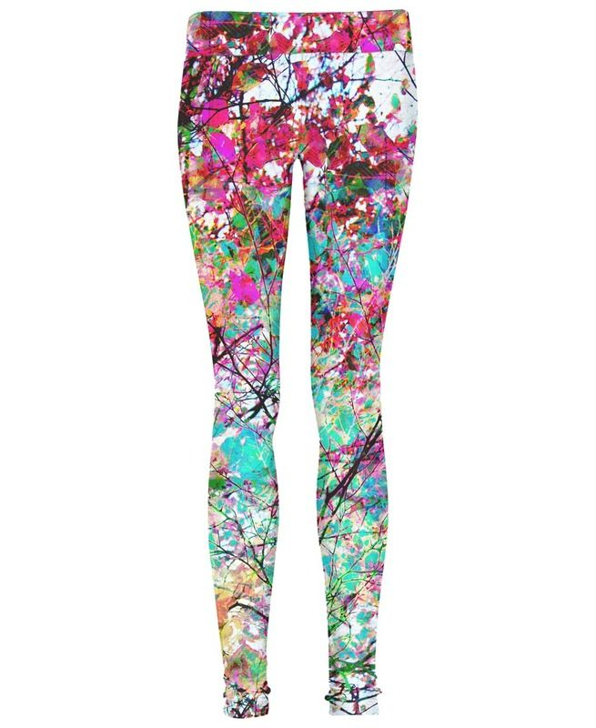 Autumn 8 als Leggings door Mareike Böhmer  JUNIQE floral print bloemen print multicolour