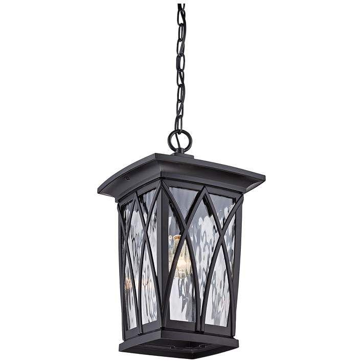 Quoizel Grover 17 1 2 H Mystic Black Outdoor Hanging Light