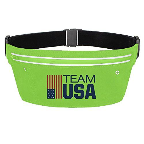 Travel Fanny pack Waist Bag Sling Pocket Running Belt Great for Sports ventilate Polyester lycra Material and Multiprupose for Women  Men Team USA 2016 Rio Olympic Logo Yellow >>> Check this awesome product by going to the link at the image.(This is an Amazon affiliate link)