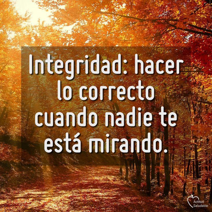 Integridad .... un valor muy olvidado por muchos estos días