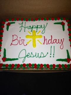 happy birthday Jesus~ what a great idea make Jesus a Birthday cake on Christmas!