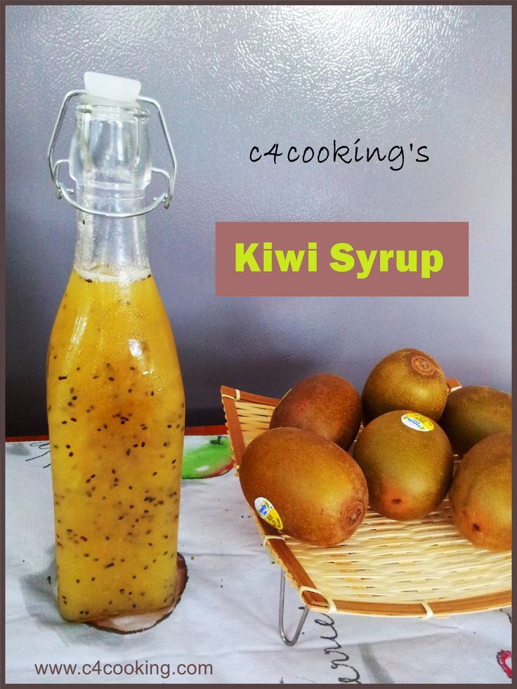 Very easy KIWI SYRUP recipe.. see the refreshing mocktails / sherbets you can make with this simple syrup ! ..enjoy :)