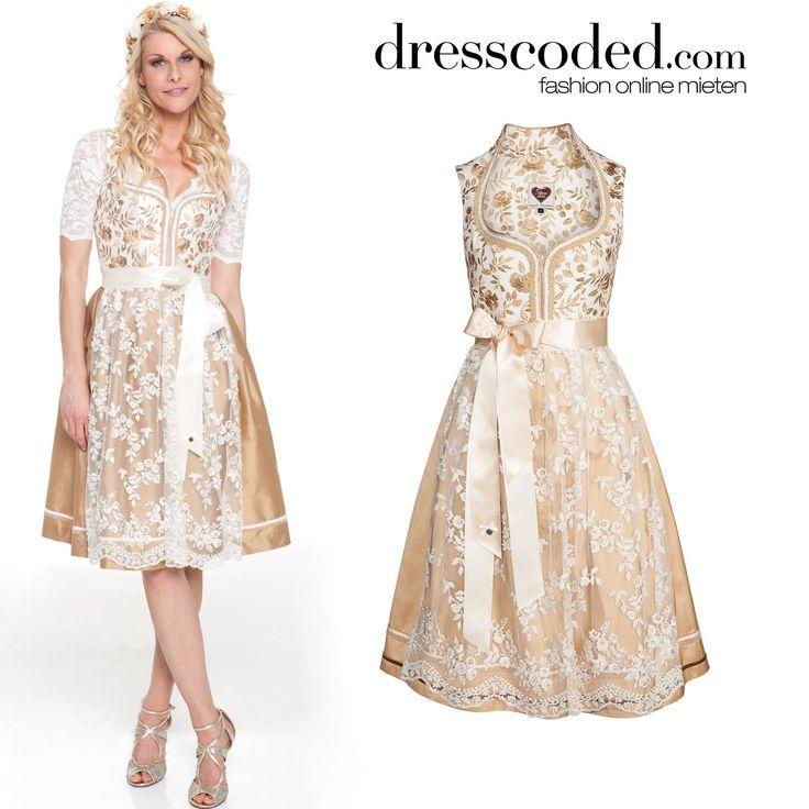 Natascha Gruen im Brokat Dirndl von Alpenherz. Zu leihen bei dresscoded.com.#dresscoded