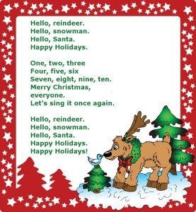 Christmas-song №1 (Очень простая новогодняя песенка для детей на английском языке)