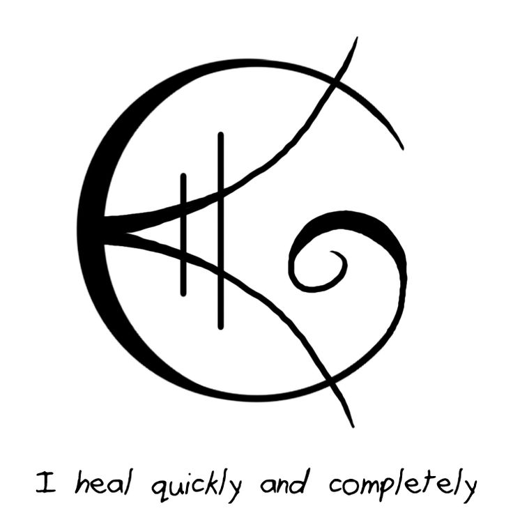 """""""I heal quickly and completely"""" sigil requested by anonymous (If you want something more specific just let me know)"""