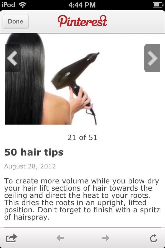 Hair tips .