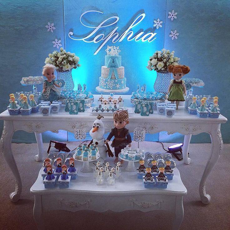 Mais de 30 ideias de decoração Frozen: Uma aventura congelante – Inspire sua Festa ®