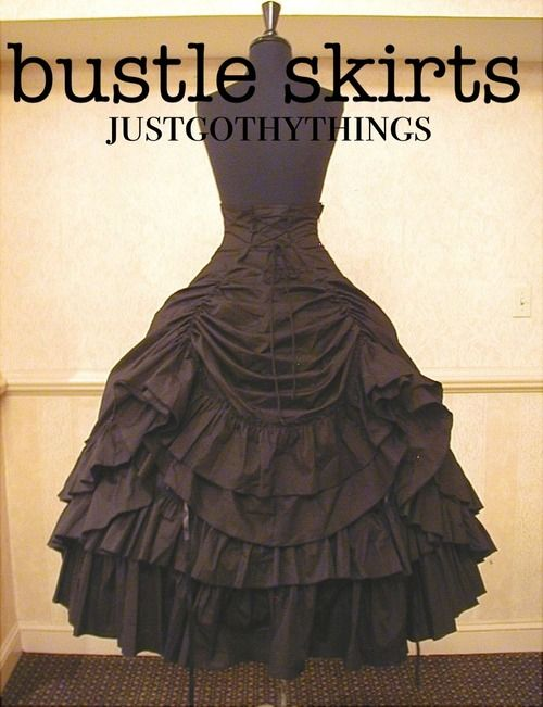 Ideas for bustles  skirts for Steampunk costumes #steampunk #fashion #costumes