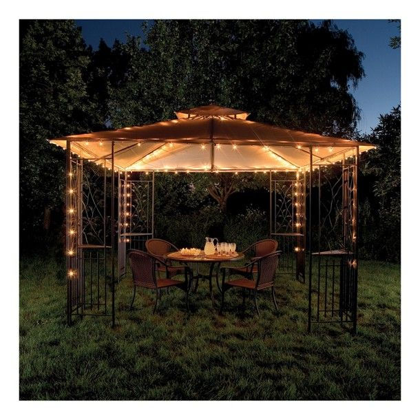... Outdoor Solar R Decor Solar String Lights Gazebo