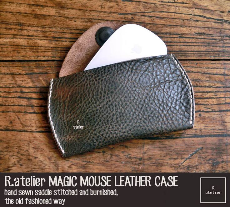 Our minimalistic Apple Magic Mouse leather case is beautifully handcrafted from premium vegetable tanned cowhide. Fits your Apple Magic Mouse perfectly!