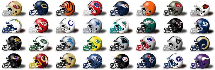 Coolest NFL football helmets of all time.  http://www.nflcheapskate.com/the-best-nfl-helmet-logos-ever.html