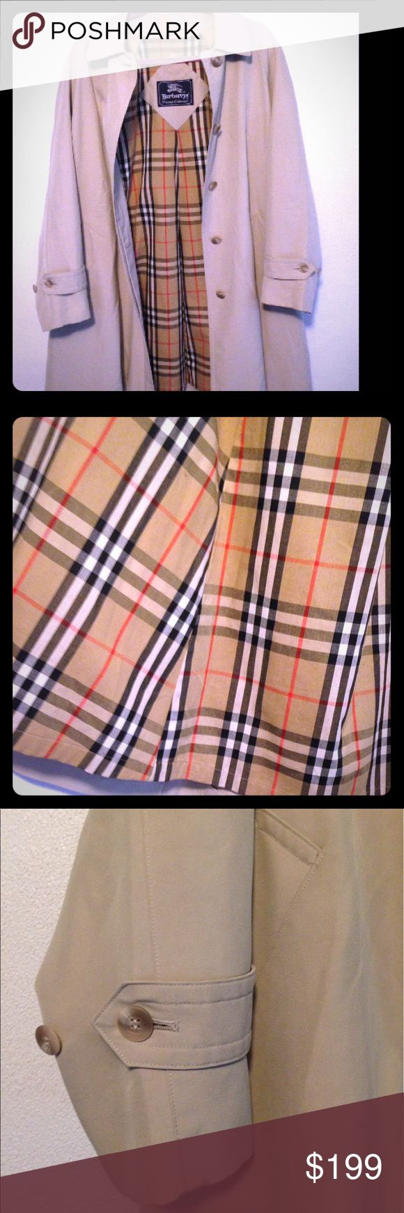 🍂 BURBERRY Jacket Size 8 Petite🍂 Pristine! Absolutely Gorgeous, Vintage Burberry Jacket in a Size 8 Petite. This is a Impressive Piece, Circa the Mid 90's. It features very light padding in the shoulders, the Burberry Nova Check Inner Lining that Burberry is Known for. There are No Signs of Wear & Has Been Dry Cleaned, So it is Ready For Fall's First Rain! I'm Letting this Go, Only Bc LA Doesn't see Much Rain at All, So it Sits Hanging. SALE PRICE PRICD FIRM. Looking to clean out for new…