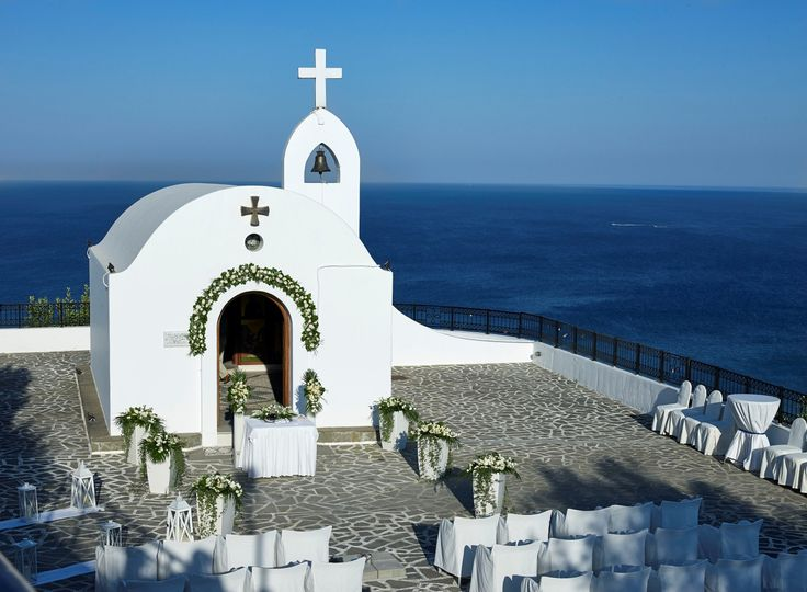 Agia Sofia Chapel decorated for a wedding