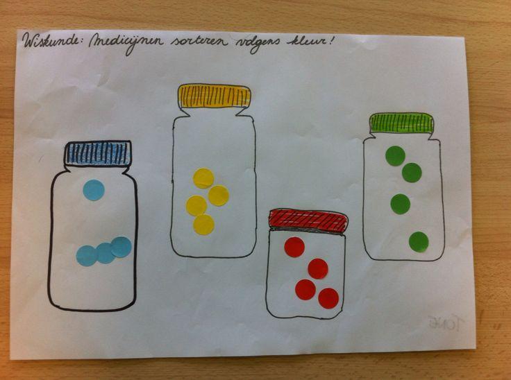 Medicijnen sorteren volgens kleur