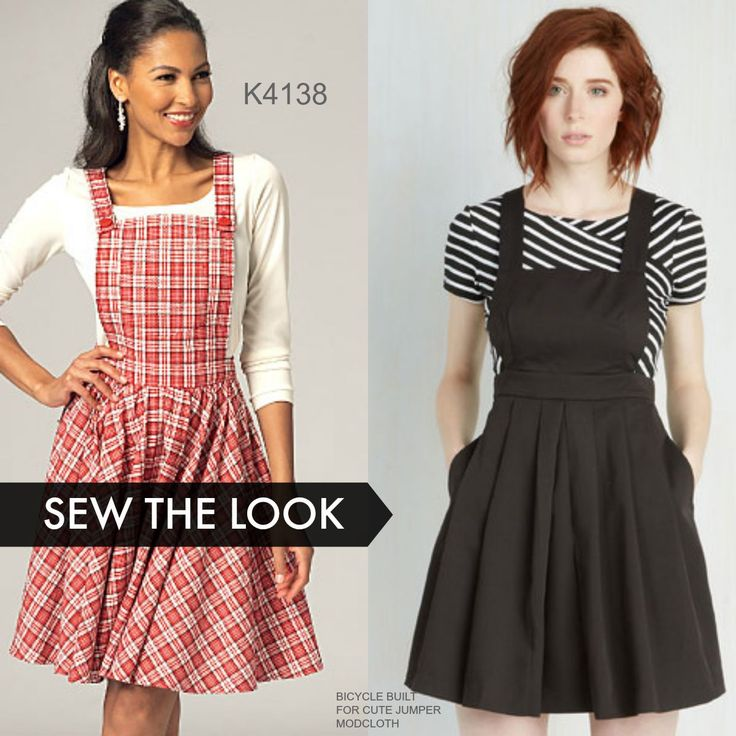 Sew the Look with Kwik Sew jumper sewing pattern K4138. Make it short and flirty.