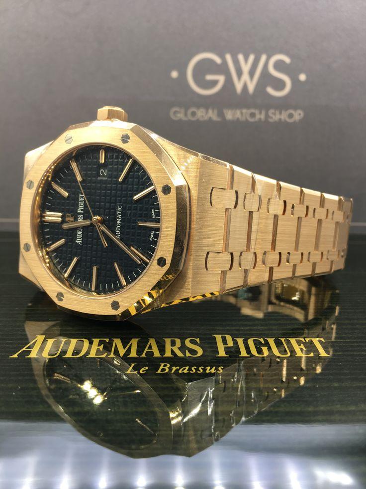 Audemars Piguet Royal Oak Rose Gold Blue Dial 15400OR.OO.1220OR.03