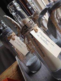 Cadeaubon in een originele verpakking; Message in a bottle!