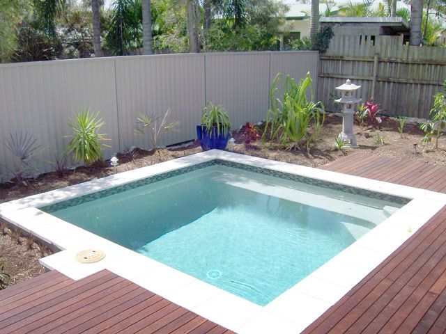 "Don't call them tiny pools, these are ""plunge pools""  Perhaps ""tiny"" suggests a matching price and builders don't like that. Dunno."