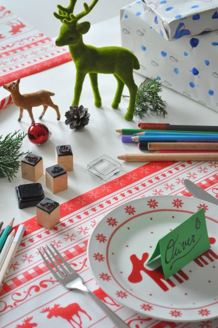 vianočná výzdoba stola pre deti