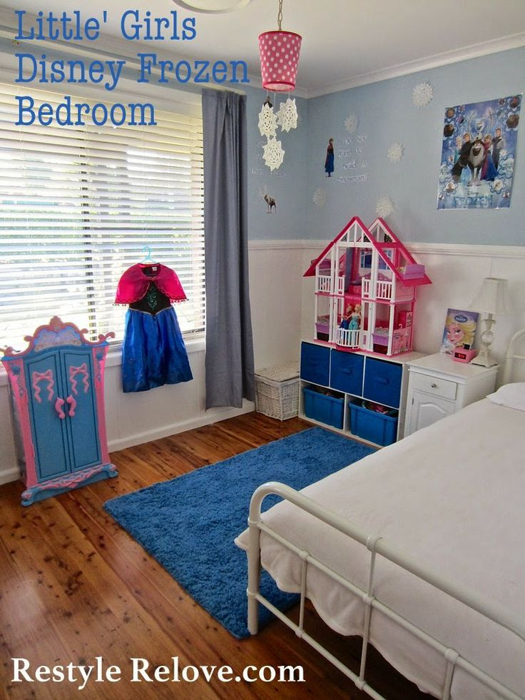 restyle relove little girls disney frozen bedroom on a budget cute and simple
